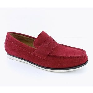 Alfani SAWYER Red Mens Suede Slip On Shoes